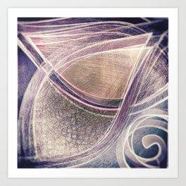 Violet leaves Art Print