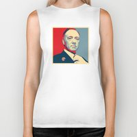 frank underwood Biker Tanks featuring House of Cards - Frank Underwood - Hope/Power Poster by RobHansen