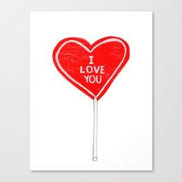 I love you, sucker Canvas Print