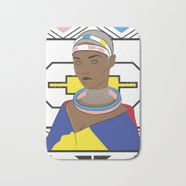 Ndebele Woman Bath Mat