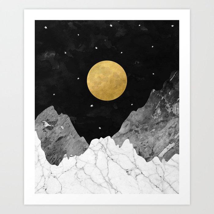 Moon and Stars Kunstdrucke