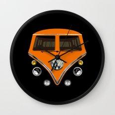 Sale for charity! Orange VW volkswagen mini van bus kombi camper iphone 4 4s 5 5c & galaxy s4 case Wall Clock
