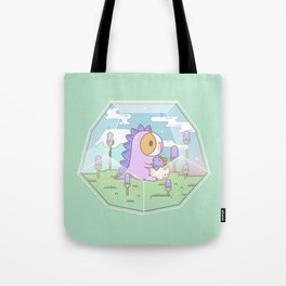 Bubu the Guinea pig, Dino Terrarium Tote Bag