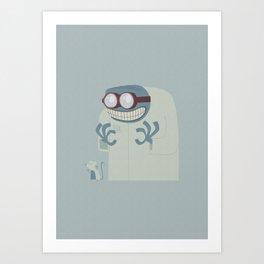 Evil scientist Art Print