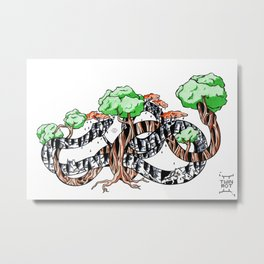 Tree Serpents Metal Print