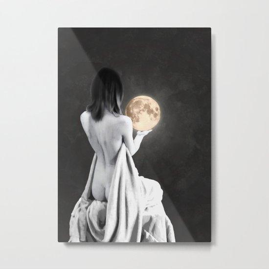 Moon Contemplation Metal Print