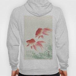 Oriental Goldfish illustration Hoody