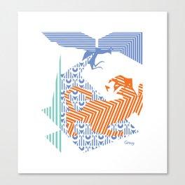 fray (colour) Canvas Print