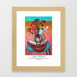 Latin American Flowers. Framed Art Print