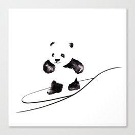 Surfing Panda Canvas Print