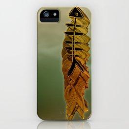 Atlante / ORANGE in BLUE iPhone Case