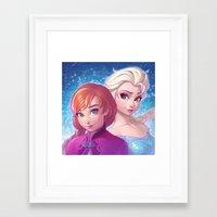 frozen Framed Art Prints featuring Frozen by Ilya Kuvshinov
