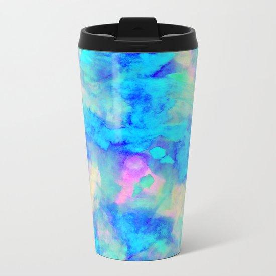 Electrify Ice Blue Metal Travel Mug