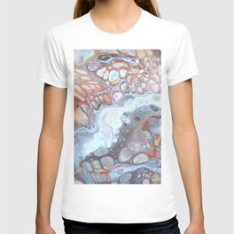 River Bed Pebbles - Abstract Acrylic Art by Fluid Nature T-shirt