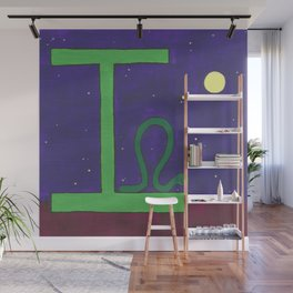 I is for Inchworm Wall Mural