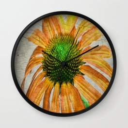 Orangle Crackle Wall Clock