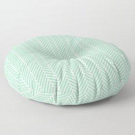 Herringbone Mint Green 2 Floor Pillow