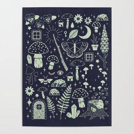 Fairy Garden: Midnight Poster