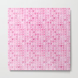 Hearts & Stripes ( Valentine's Day Gifts / Valentine Gift ) Metal Print