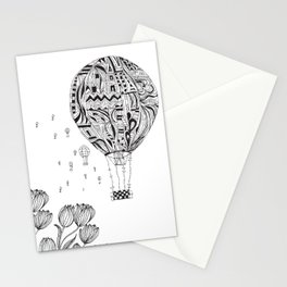 balloon trip Stationery Cards