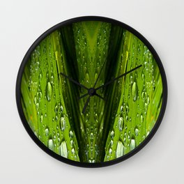 Floral Reflections in water Wall Clock