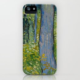Vincent van Gogh - Undergrowth with two Figures (1890) iPhone Case