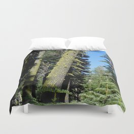 road trip, tree, leaning tree, moss Duvet Cover