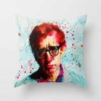 woody Throw Pillows featuring Woody by benjamin james