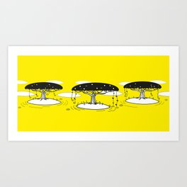 Tree trilogy Art Print