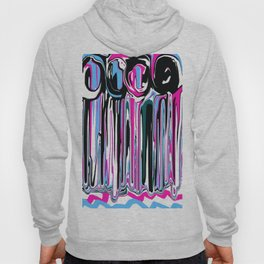 Abstract in Blue, Pink, Black and White Hoody