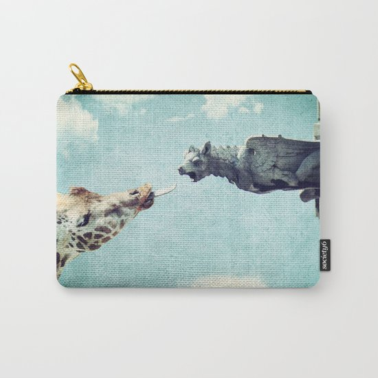 A Giraffe In Paris or French Kiss Carry-All Pouch