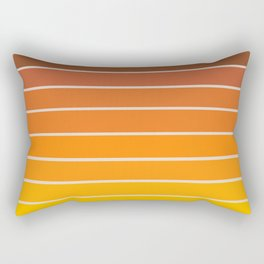 Gradient Arch - Vintage Orange Rectangular Pillow