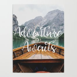 Live the Adventure - Adventure Awaits Poster