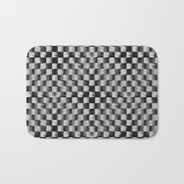 Edgy Checker (in shades of grey) Bath Mat