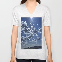 blue ART Unisex V-Neck