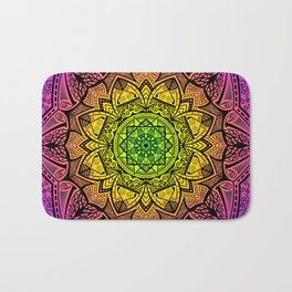 Mandala Rainbow Square Bath Mat