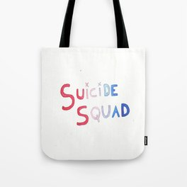 SUICIDE SQUAD WATERCOLOR TYPOGRAPHY Tote Bag