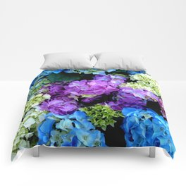 Colorful Flowering Bush Comforters