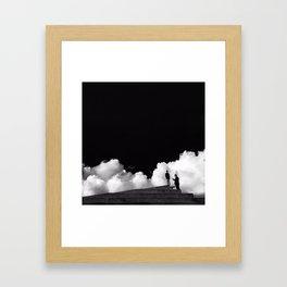 Cloudy Copenhagen Framed Art Print