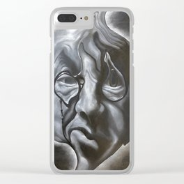 Distorted Vladimir Nabokov Clear iPhone Case
