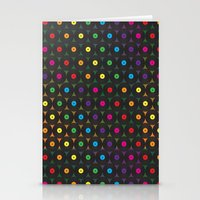 records Stationery Cards featuring disco records by kociara