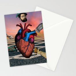 Heart Running Stationery Cards
