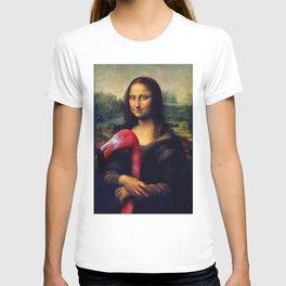 Mona Lisa and Her Flamingo T-shirt