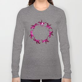 Showjumping Horse Sequence (Magenta) Long Sleeve T-shirt