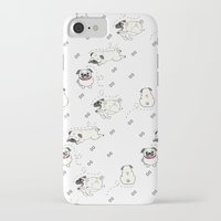 pugs iPhone & iPod Cases featuring Pugs by Alisse Ferrari