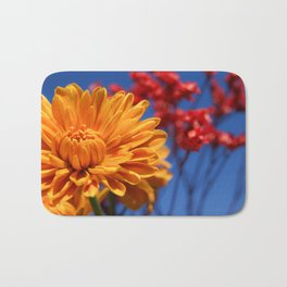 Bright, Vibrant, Happy Flowers Bath Mat