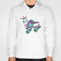 roller derby Hoodies featuring Roller Derby Motherf***er by Kiwii Illustration