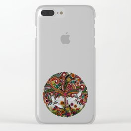 tree of life white Clear iPhone Case
