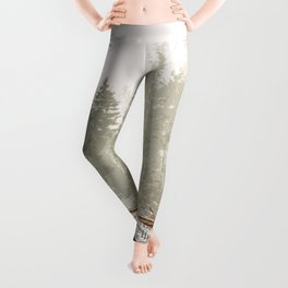 Railway in the forest Leggings