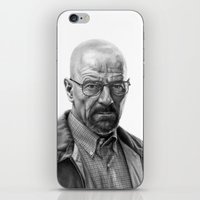 walter white iPhone & iPod Skins featuring Walter White by robo3687